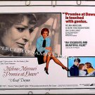 PROMISE AT DAWN ~ '71 Half-Sheet Movie Poster ~ MELINA MERCOURI / JULES DASSIN / ASSAF DAYAN