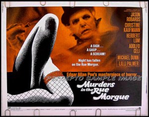 MURDERS IN THE RUE MORGUE ~ '71 Half Sheet AIP Movie Poster ~ Edgar Allan Poe / JASON ROBARDS
