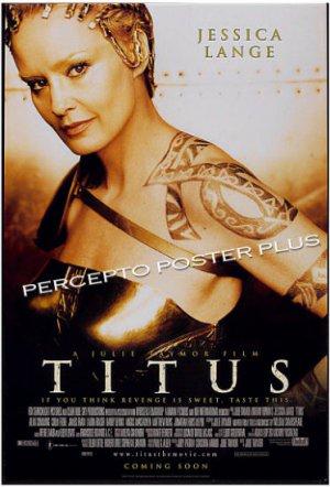 TITUS ~  Original  '99 TEASER 1-Sheet Movie Poster ~ JESSICA LANGE / JULIE TAYMOR / SHAKESPEARE