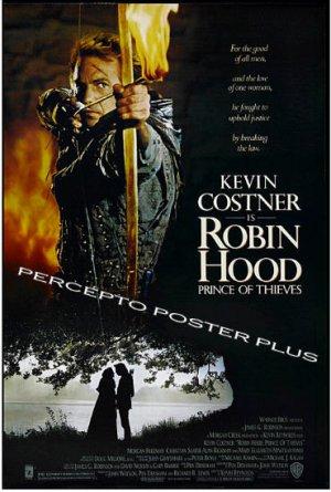 ROBIN HOOD Prince of Thieves ~ '91 Rolled 1-Sheet Movie Poster ~ KEVIN COSTNER  / MORGAN FREEMAN