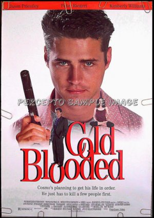 COLD BLOODED ~ Orig 1994 1-Sheet Comedy Movie Poster ~ JASON PRIESTLY / 90210 / PETER REIGERT