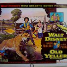 OLD YELLER ~ '74 Half-Sheet WALT DISNEY Movie Poster ~ TOMMY KIRK / DOROTHY McGUIRE