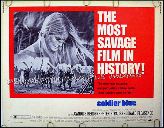 SOLDIER BLUE ~ Orig '70 Half-Sheet Movie Poster ~ CANDICE BERGEN / PETER STRAUSS / INDIAN MASSACRE