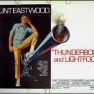 THUNDERBOLT & LIGHTFOOT ~ '74 Half-Sheet Movie Poster ~  CLINT EASTWOOD / JEFF BRIDGES / LETTICK Art