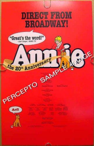 ANNIE ~ Original 20TH ANNIVERSARY  '97 NYC Musical Theatre Poster ~ SALLY STRUTHERS / JOHN SCHUCK