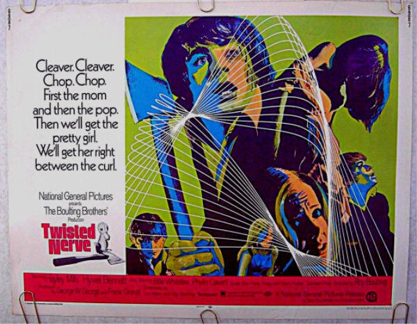 TWISTED NERVE ~ '69 Rolled Half-Sheet Movie Poster ~ HAYLEY MILLS / HYWEL BENNETT