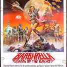BARBARELLA  ~ '77 1-Sheet Sci-Fi Movie Poster ~ JANE FONDA / DAVID HEMMINGS / BORIS VALLEJO Art