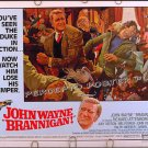BRANNIGAN ~ '75 Rolled Half-Sheet Movie Poster ~ JOHN WAYNE / JUDY GEESON