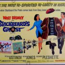 BLACKBEARD'S GHOST ~ WALT DISNEY '68 Half-Sheet Movie Poster ~ DEAN JONES / SUZANNE PLESHETTE