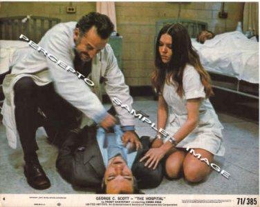 HOSPITAL ~ Sexy Original '71 Movie Photo ~ GEORGE C SCOTT / DIANA RIGG