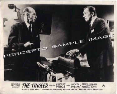 The TINGLER ~ Orig '59 CULT CLASSIC GIMMICK Movie Photo ~ VINCENT PRICE / WILLIAM CASTLE