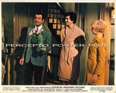 CACTUS FLOWER ~ Original '69 Color Movie Photo ~ WALTER MATTHAU / GOLDIE HAWN