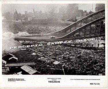 TIDAL WAVE / SUBMERSION OF JAPAN ~ Orig '75 F/X Movie Photo #12 ~ BRIDGE COLLAPSE / ROGER CORMAN