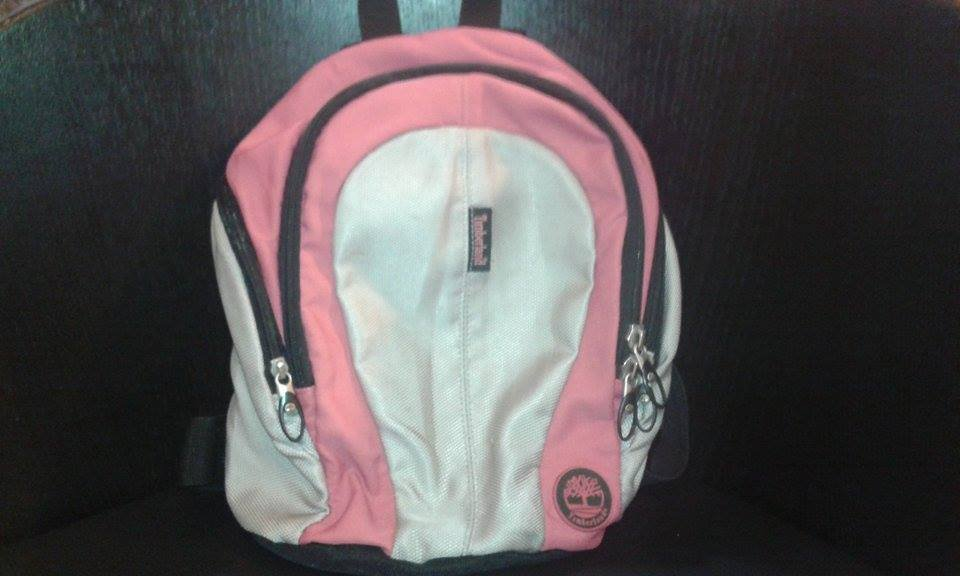 Timberland pink backpack (limited edition)