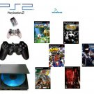"Slim Sony Playstation 2 ""Wireless Bundle"" - 8 Games + Wireless Controller"