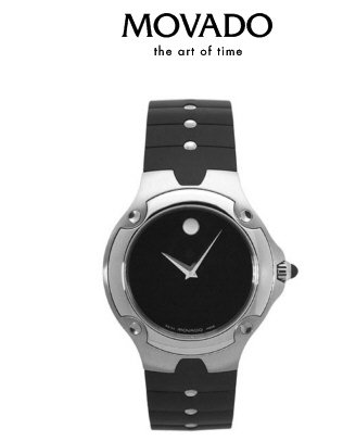 Movado Sports Edition Mens Rubber Strap Museum Watch
