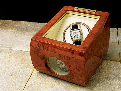 Steinhausen TM-483 Steinhausen Burl Single Auto Watch Winder Case