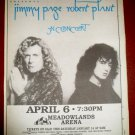 Jimmy Page Robert Plant 1995 Meadowlands Arena Newspaper Concert Poster AD Led Zeppelin