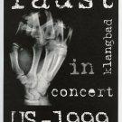 Faust 1999 US Concert Tour Handbill