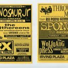 Dinosaur Jr Chavez Smithereens Royal Trux Sponge Everclear 1995 NYC Concert Flyer Handbill