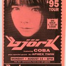 BJORK 1995 New York City Concert Flyer Tour Handbill