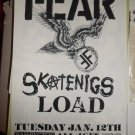 FEAR 1993 Original Miami Beach Concert Flyer Poster