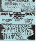 Danzig 1989 Goldenvoice Concert Handbill Poster