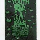 Sonic Youth Die Kreuzen 1988 Concert Flyer Handbill FREE SHIPPING!