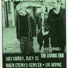 Green Day 2001 UC Irvine Concert Handbill