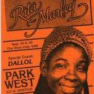 Rita Marley 1980's Chicago Reggae Concert Handbill