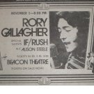 Rory Gallagher Rush 1974 Beacon Theatre Newspaper Concert AD