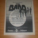 The Band Electic Flag 1974 Nassau Newspaper Concert AD