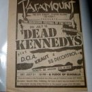 Dead Kennedys D.O.A. Kraut SS Decontrol 1982 NY Hardcore Newspaper Concert AD
