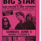 BIG STAR Alex Chilton Fillmore SF 1988 Concert Handbill