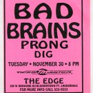 Bad Brains Prong 1993 Ft. Lauderdale FL Concert Handbill