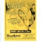 Butthole Surfers Toadies 1996 Irving Plaza NYC Concert Handbill