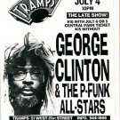George Clinton P-Funk All Stars 1996 NYC Concert handbill