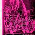 George Clinton P-Funk All Stars 1997 NYC Concert handbill