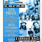 Tito Puente 1999 NYC Carnegie Hall Concert Handbill