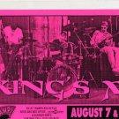 KING'S X 1996 Tramps NYC Concert Handbill