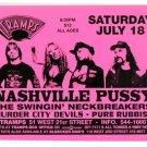 Nashville Pussy 1998 Tramps NYC Concert Handbill Card