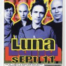 LUNA 1997 Supper Club NYC Concert Handbill