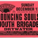 Bouncing Souls Youth Brigade 1998 Tramps NYC Concert Handbill Card