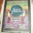 BLACK SABBATH Pantera 1998 NY/NJ Newspaper Concert Poster AD FREE SHIPPING!