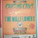 COUNTING CROWS & THE WALLFLOWERS Jones Beach NY 1997 Newspaper Concert Poster AD FREE SHIPPING!