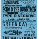 Primus Misfits Green Day 311 Sugar Ray Roseland 1997 Concert Handbill