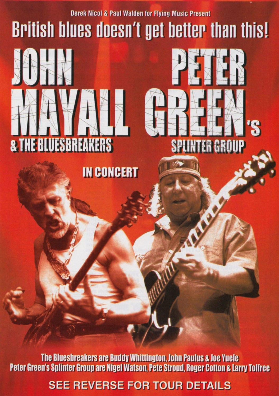 JOHN MAYALL PETER GREEN 2000 UK Concert Flyer Handbill