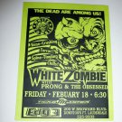 White Zombie Prong The Obsessed 1994 Ft. Lauderdale Concert Handbill Card