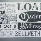 Load.Machine Mindframe 1994 Miami Punk Concert Flyer Handbill