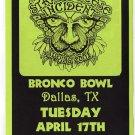 The String Cheese Incident 2001 Bronco Bowl Dallas Texas Concert Handbill